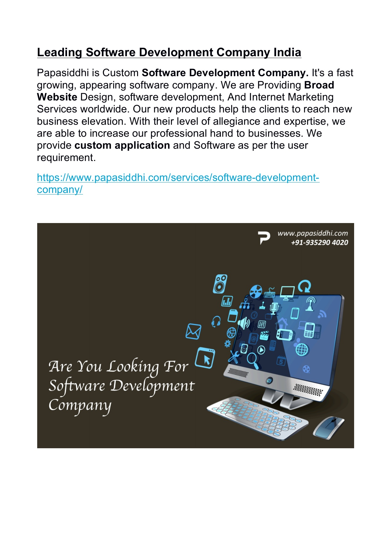 Leading Software Development Company India Pages 1 3 Text Version Anyflip