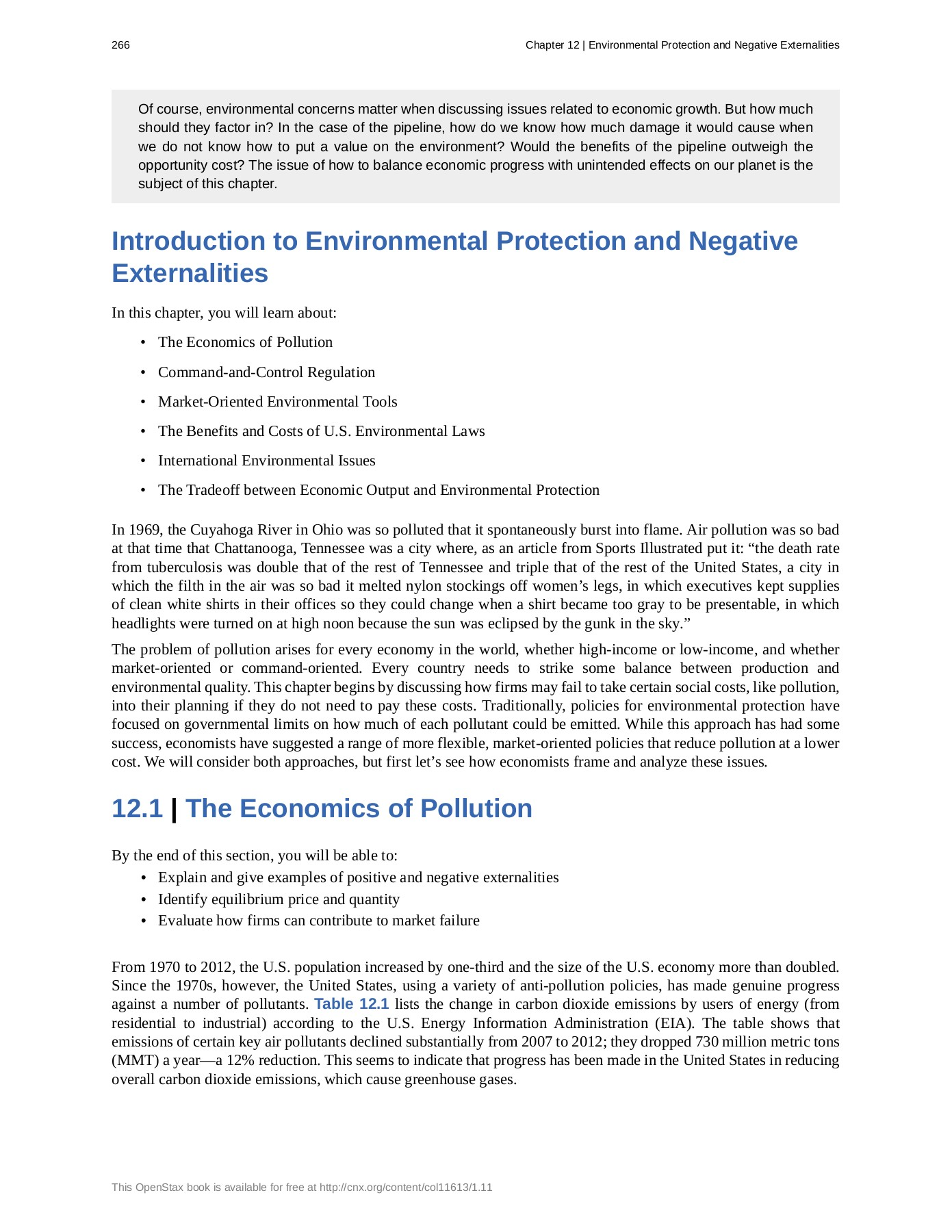 Ch 12 Environmental Protection & Negative Externalities Pages 1 - 23