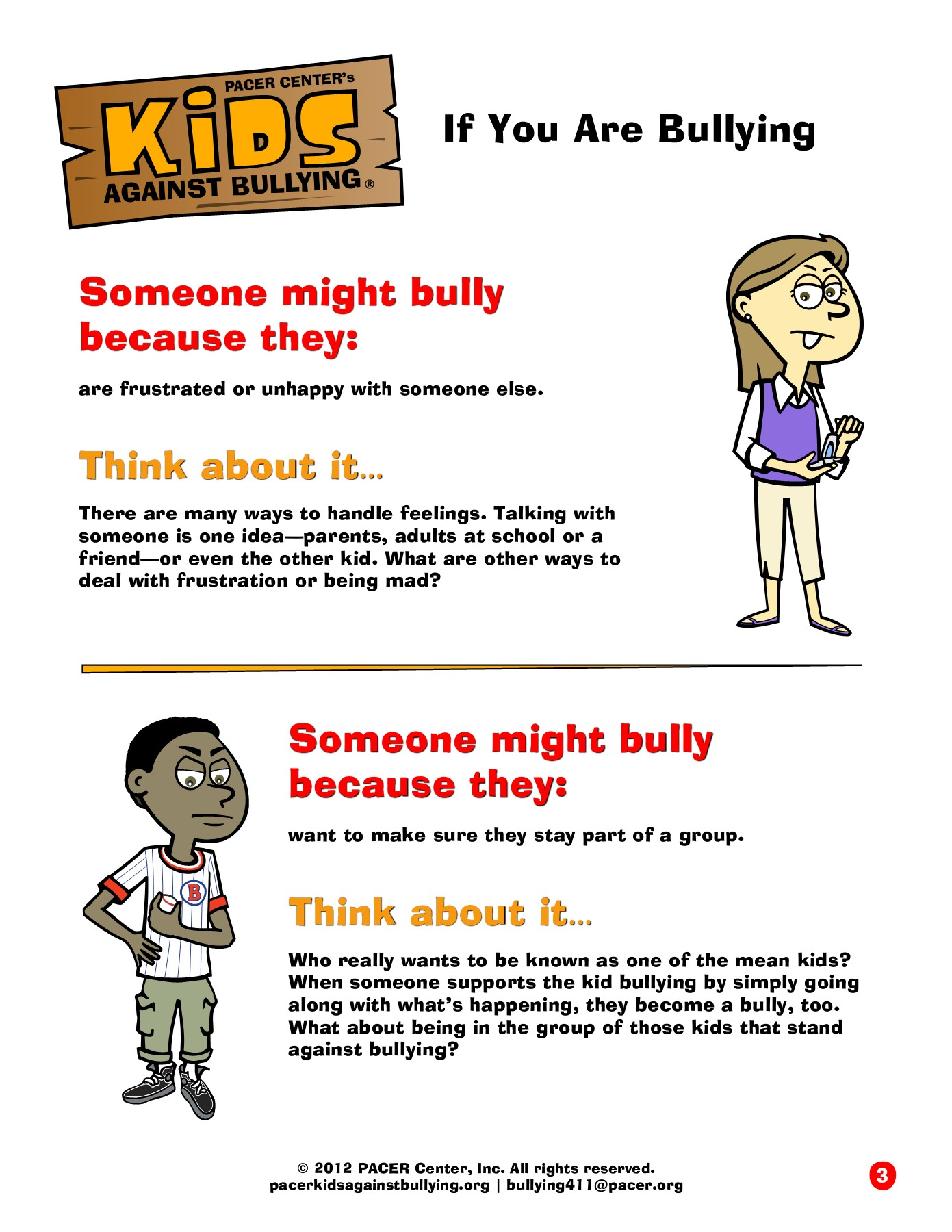 What Kids Think About Bullying And >> Acer Center S If You Are Bullying You Might Think Bullying Is Pages