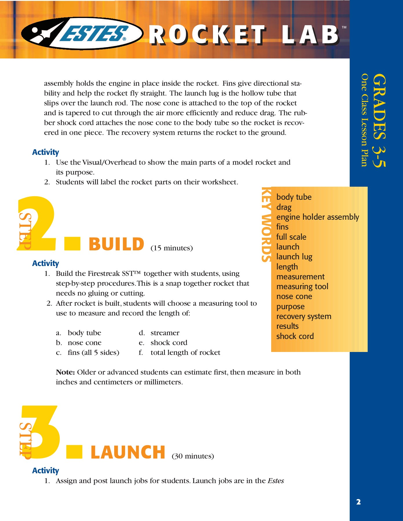 LEARN - Estes Rockets Pages 1 - 3 - Text Version | AnyFlip