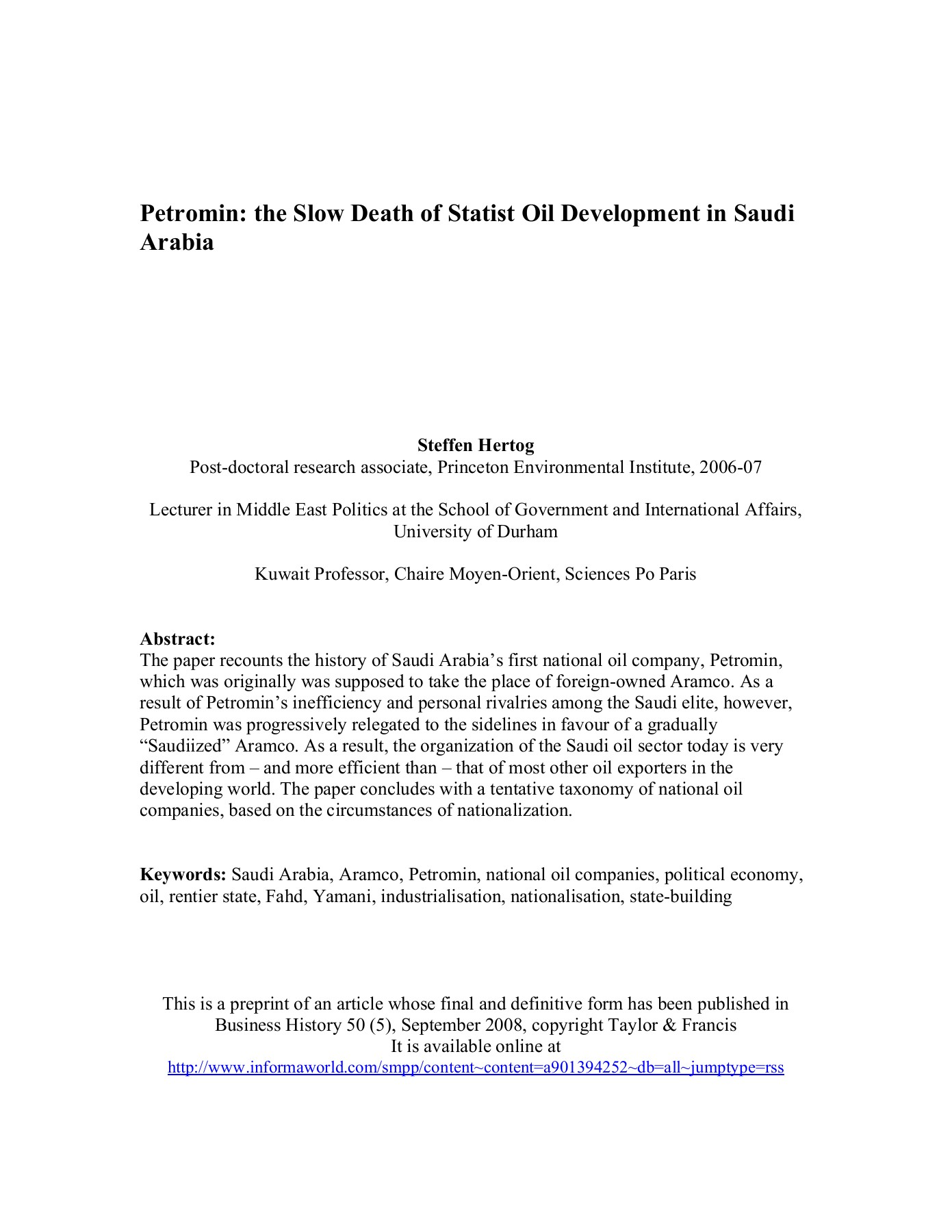 Petromin the Slow Death of Statist Oil Development in     Pages 1