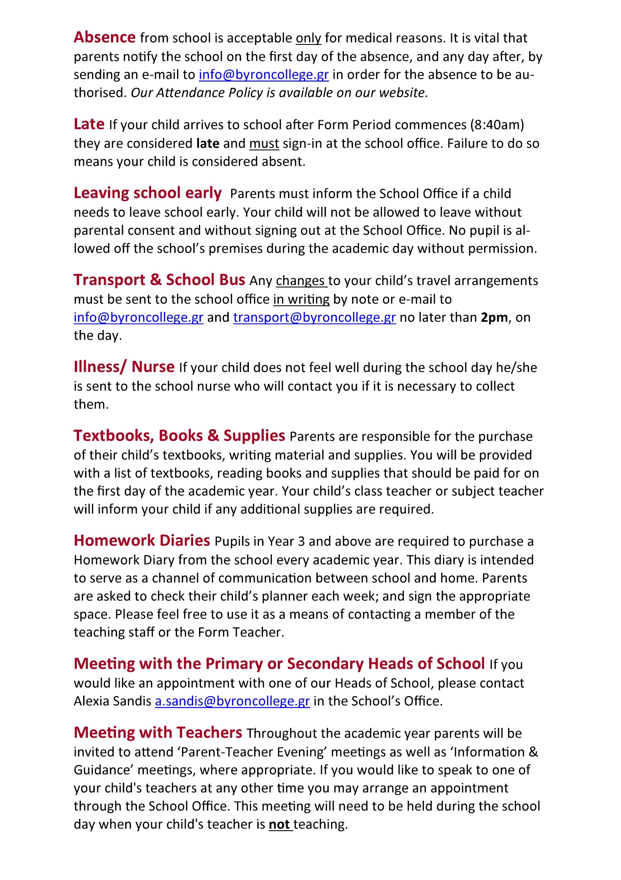 2017-2018 ESSENTIAL SCHOOL INFORMATION Pages 1 - 4 - Text Version
