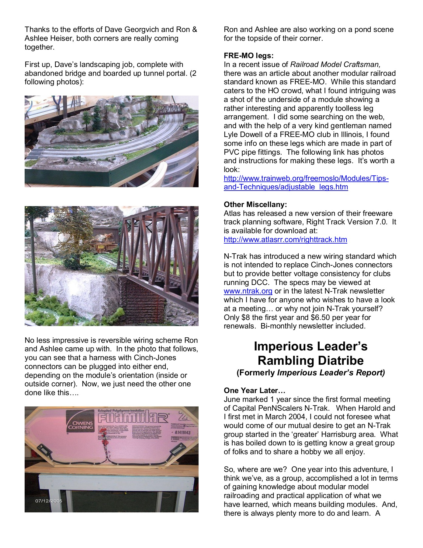 Red Line Ramblings---- Coming Events Pages 1 - 3 - Text