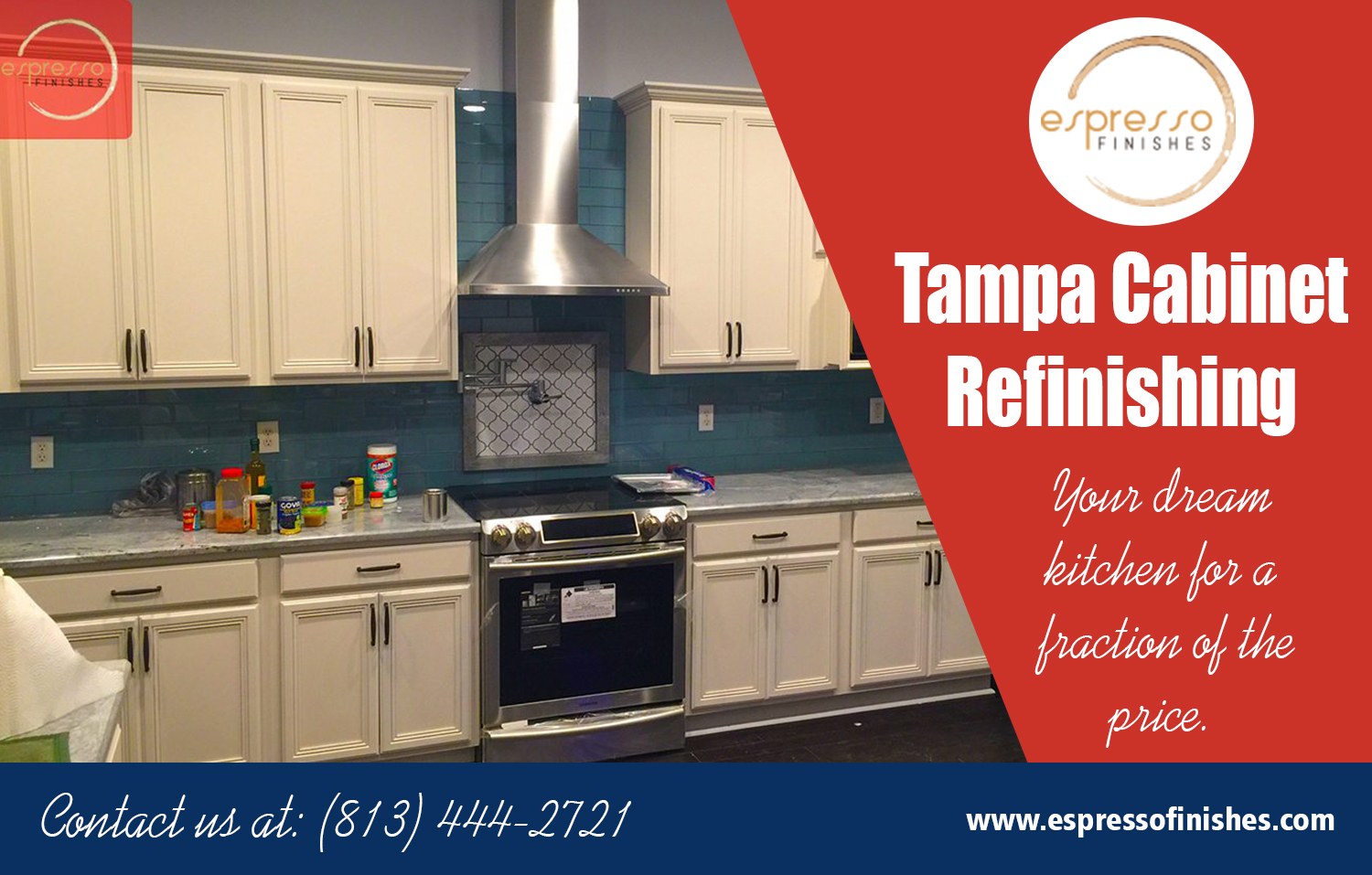 Cabinet refacing Tampa a professional finish on your kitchen cabinet at https://espressofinishes.com/ Find Us here.. https://goo.gl/maps/QinGpJbsPHr