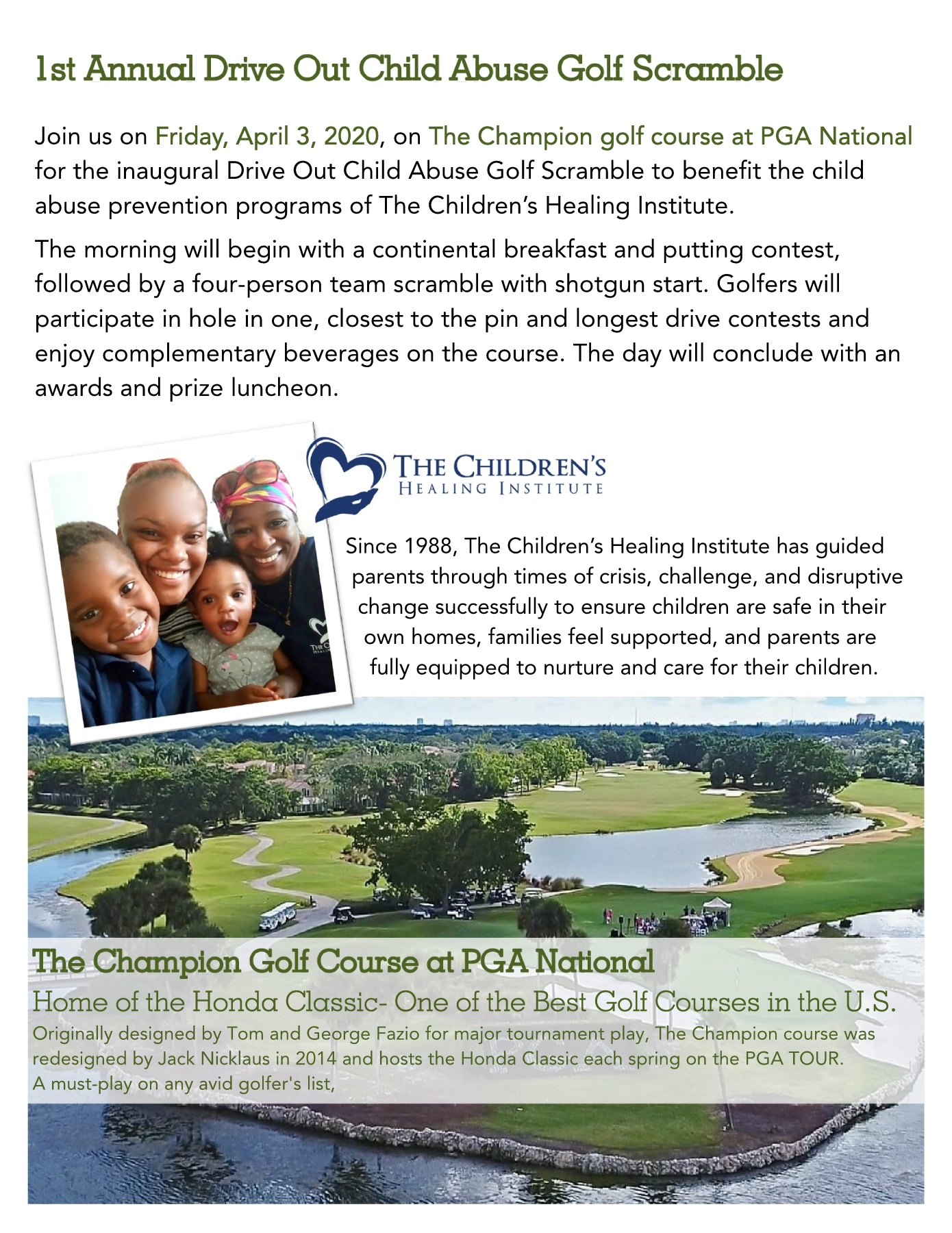 2020 Drive out Child Abuse Golf Scramble Pages 1 - 8 - Text Version