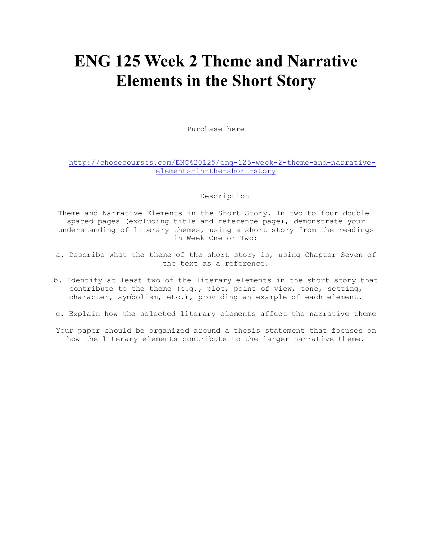 How to reference a short story in an essay