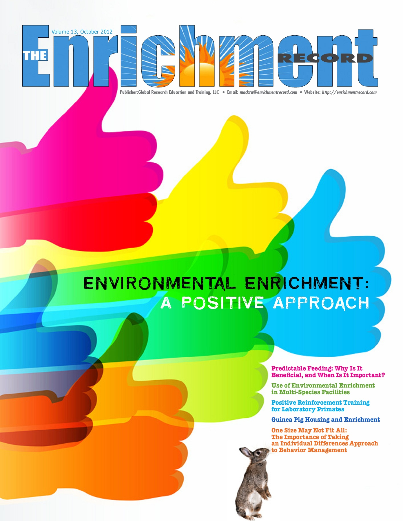 Environmental Enrichment May Help Treat >> Enrichment Record 13 October 2012 Pages 1 28 Text Version