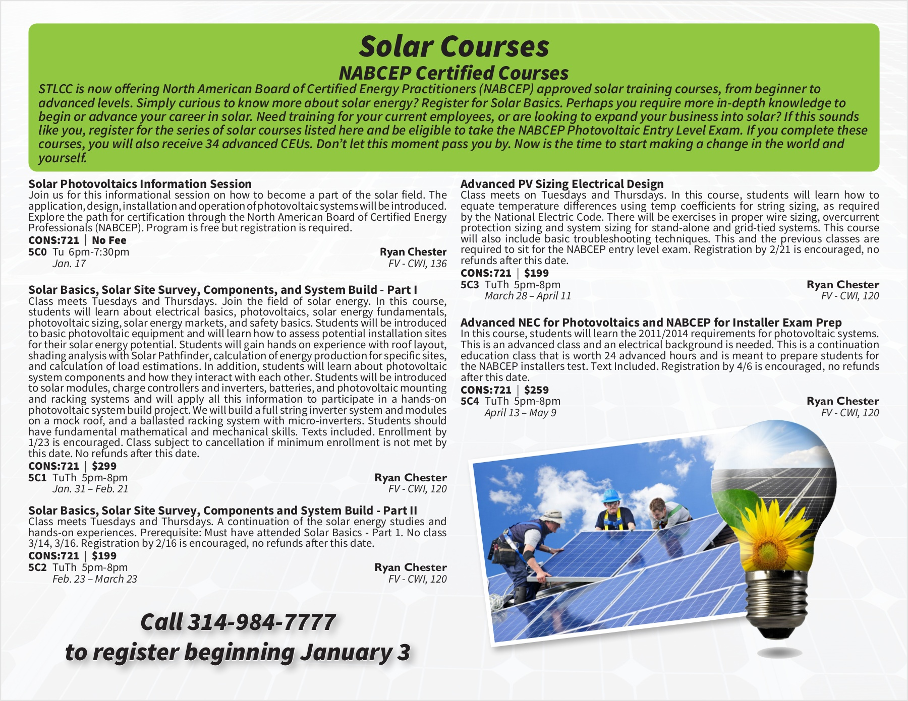Timothy Gallo-Spring 2017 NABCEP Certified Solar Classes