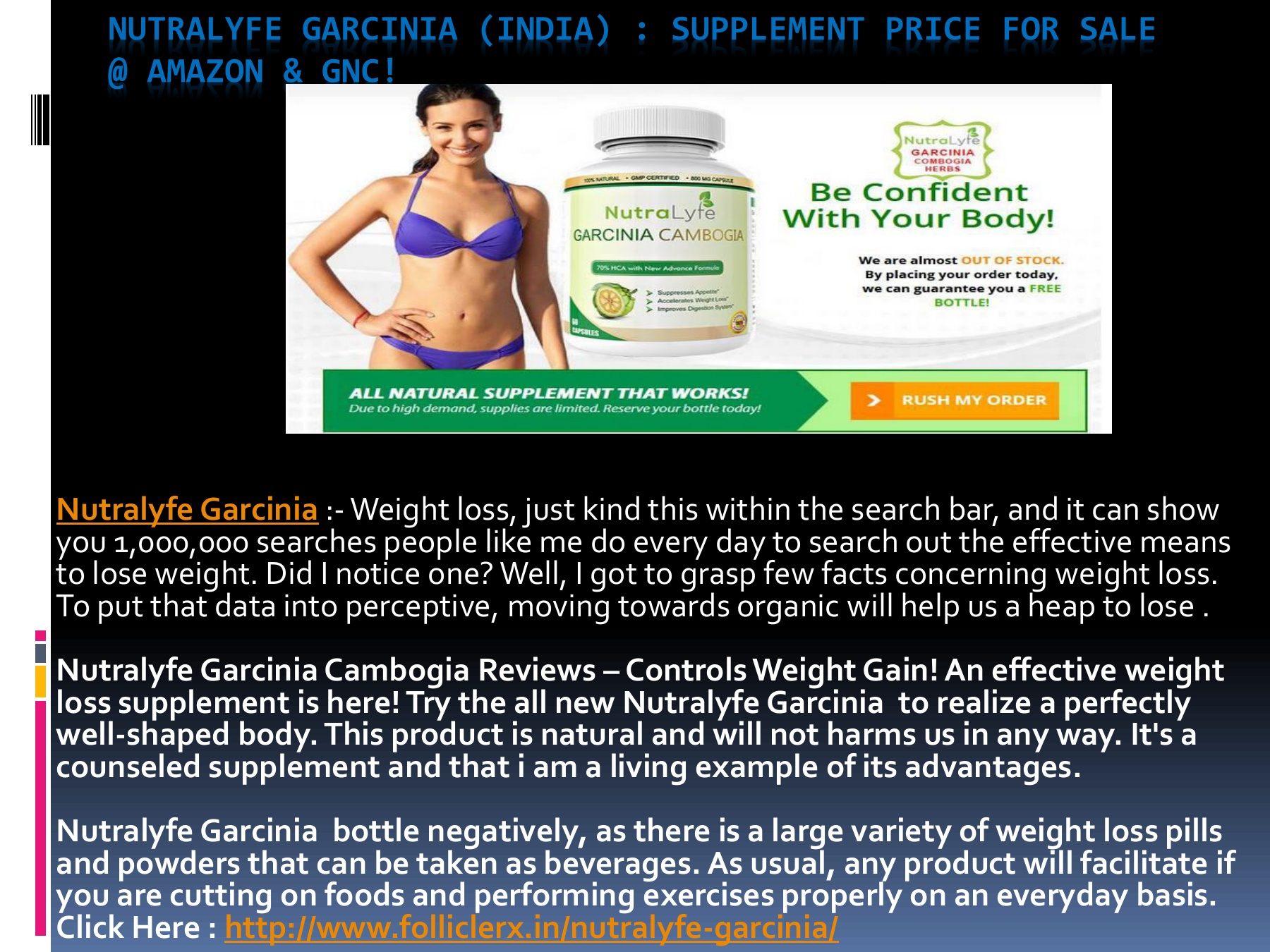 Nutralyfe Garcinia Price India Best Weight Loss Management