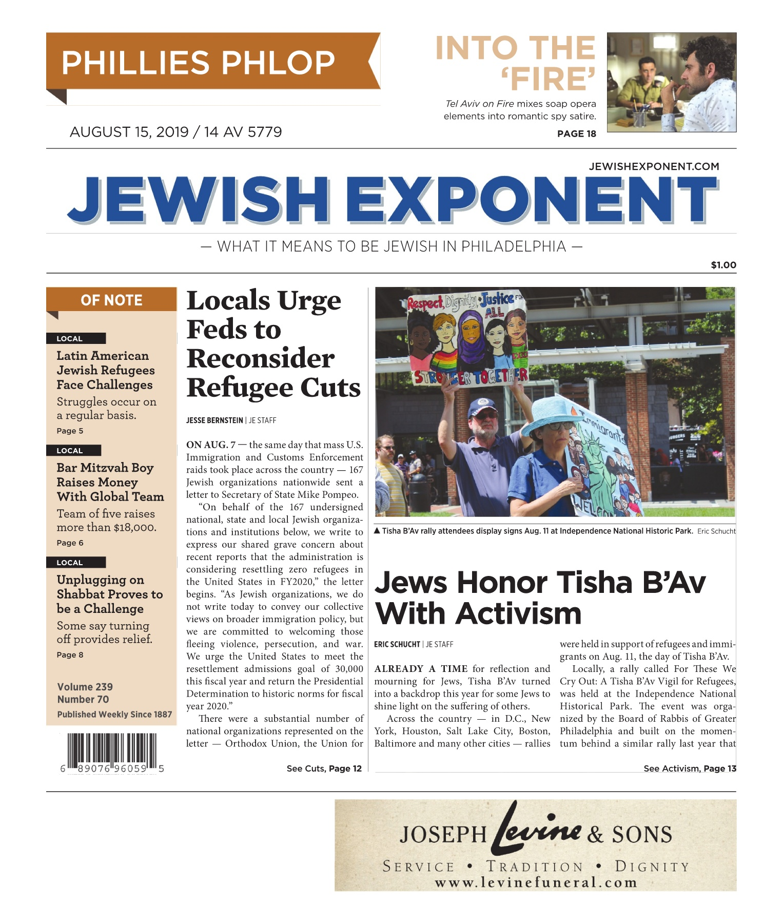 Jewish Exponent Aug  15, 2019 Pages 1 - 32 - Text Version
