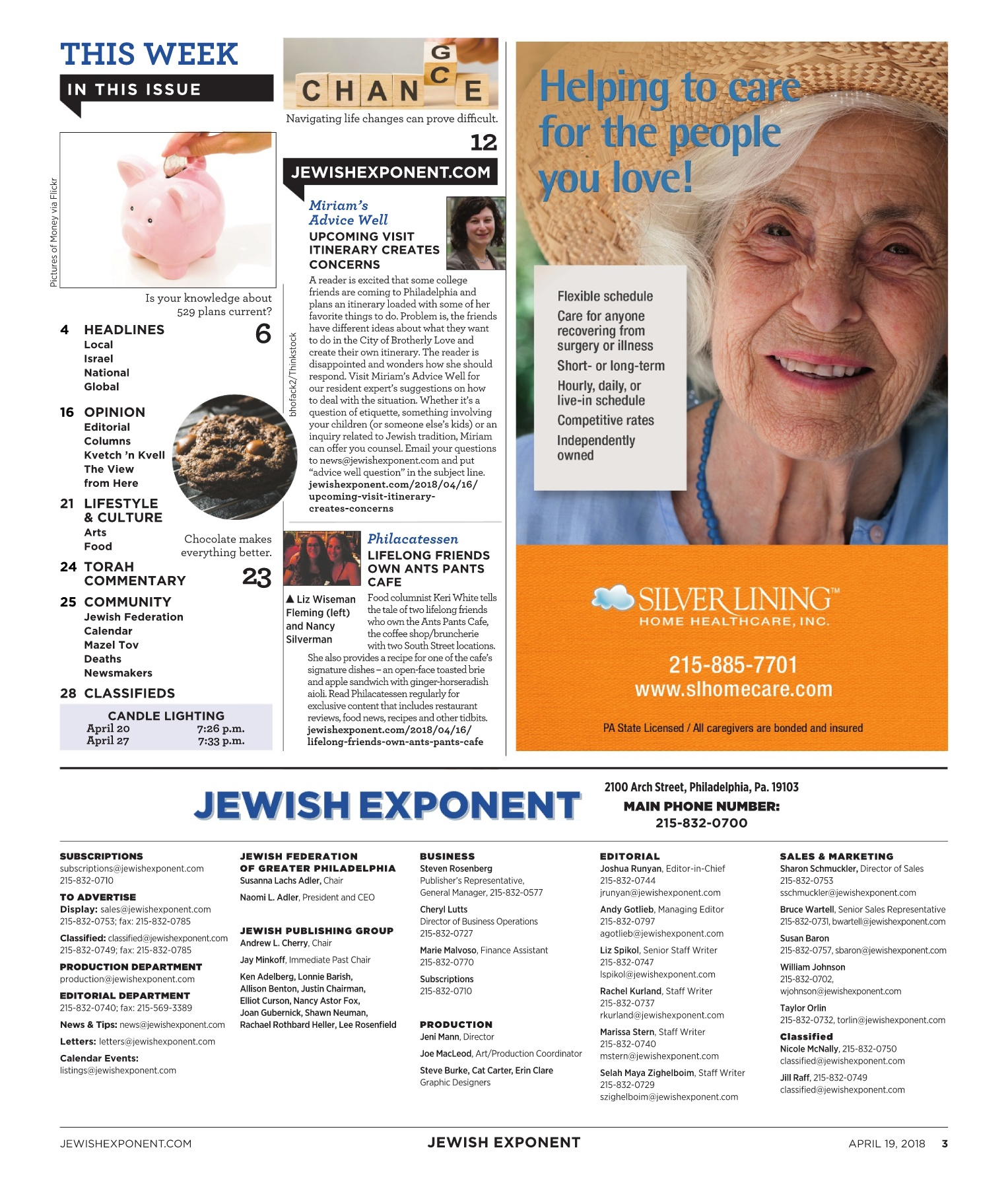 Jewish Exponent April 19, 2018 Pages 1 - 36 - Text Version | AnyFlip