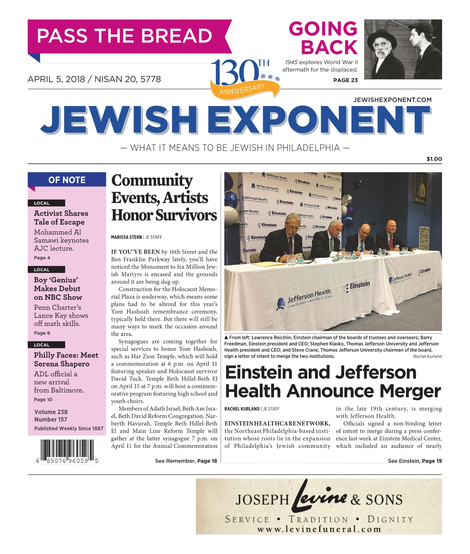 Jewish Exponent April 5, 2018 Pages 1 - 48 - Text Version | AnyFlip