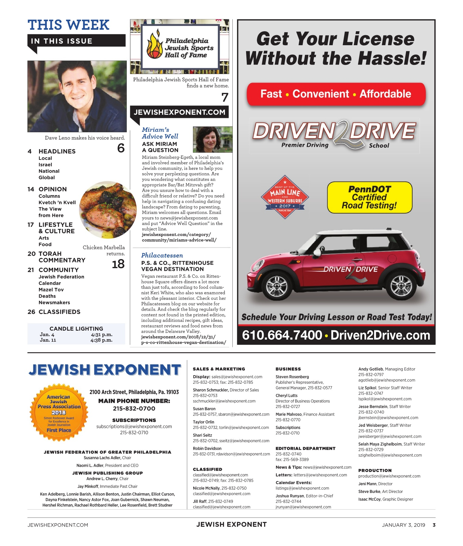 Jewish Exponent Jan  3, 2019 Pages 1 - 32 - Text Version | AnyFlip