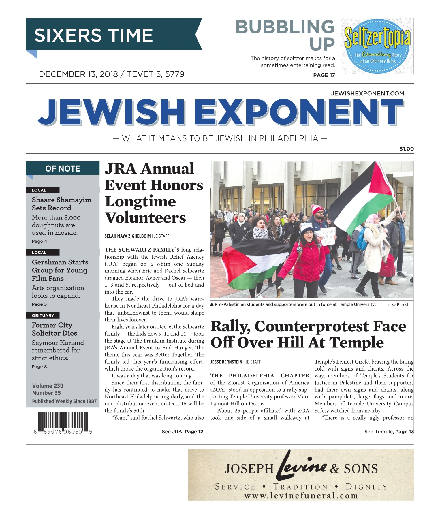 Jewish Exponent Dec  13, 2018 Pages 1 - 36 - Text Version | AnyFlip