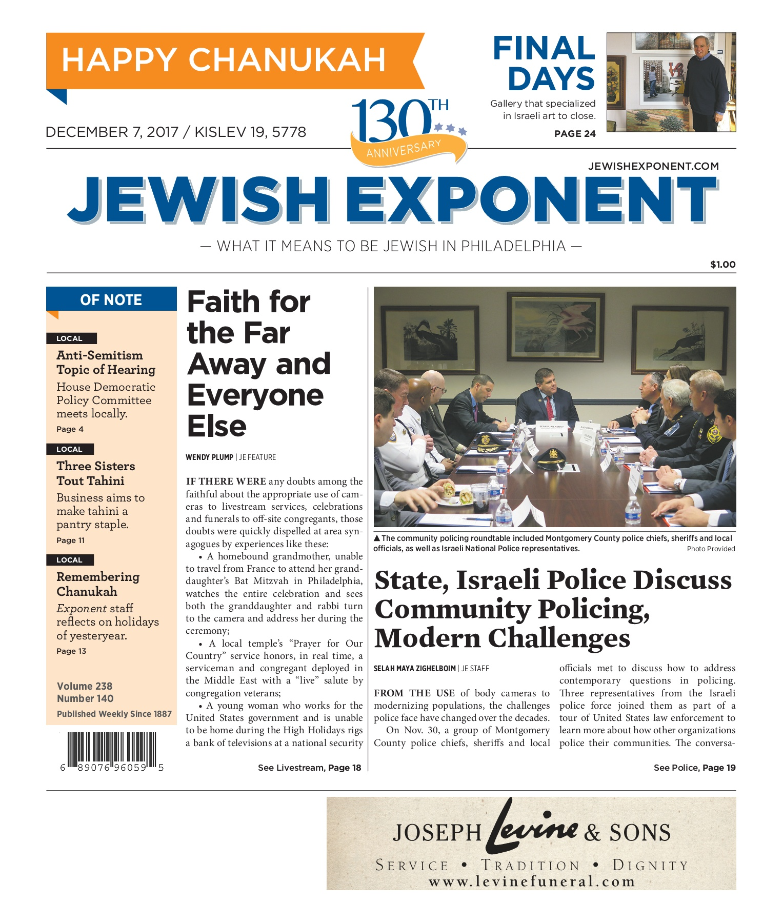 Jewish Exponent Dec  7, 2017 Pages 1 - 50 - Text Version