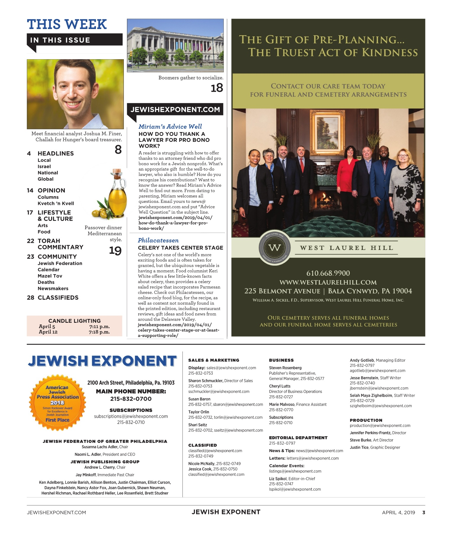 Jewish Exponent April 4, 2019 Pages 1 - 36 - Text Version | AnyFlip