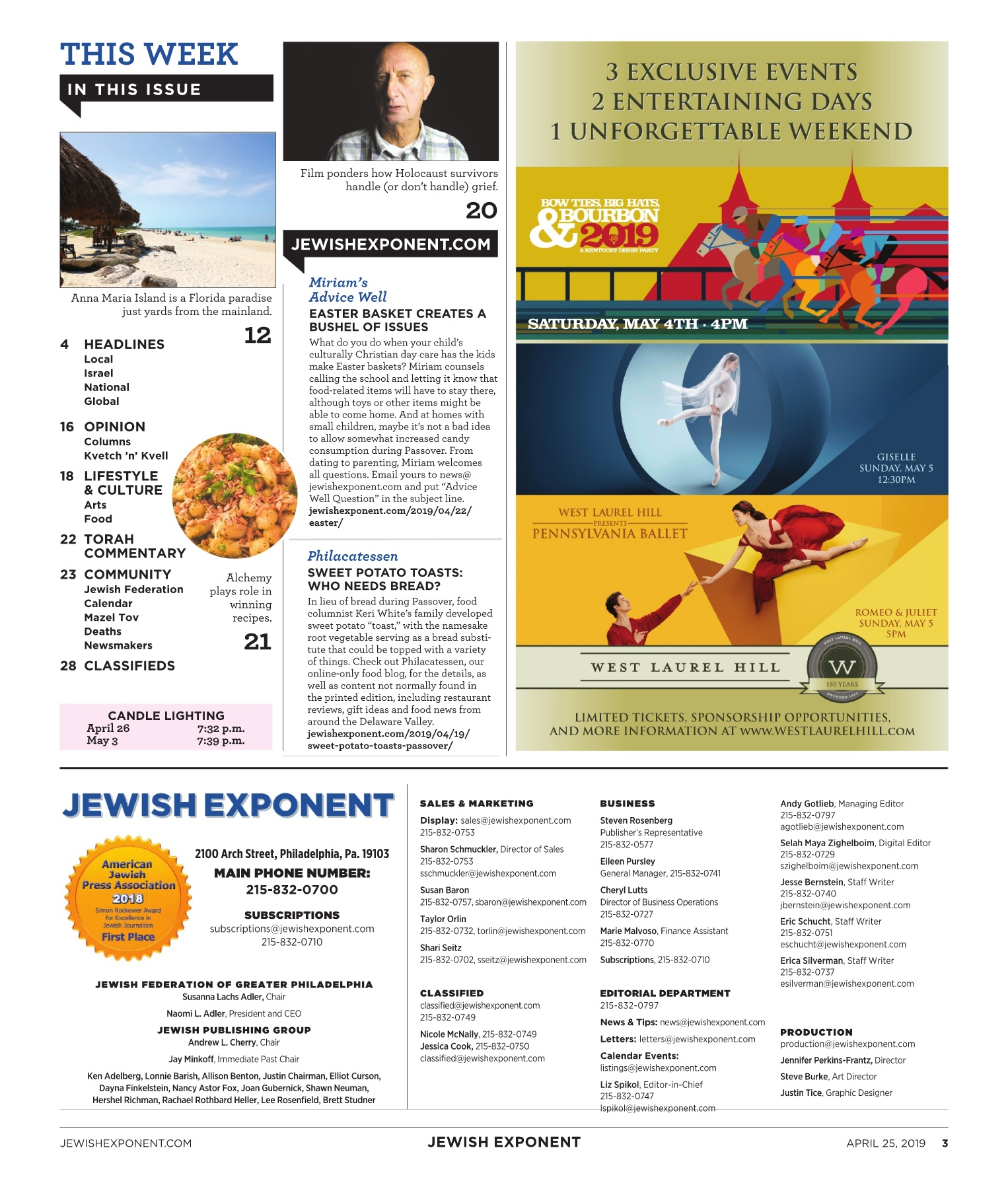 6cd740bea Jewish Exponent April 25, 2019 Pages 1 - 36 - Text Version | AnyFlip