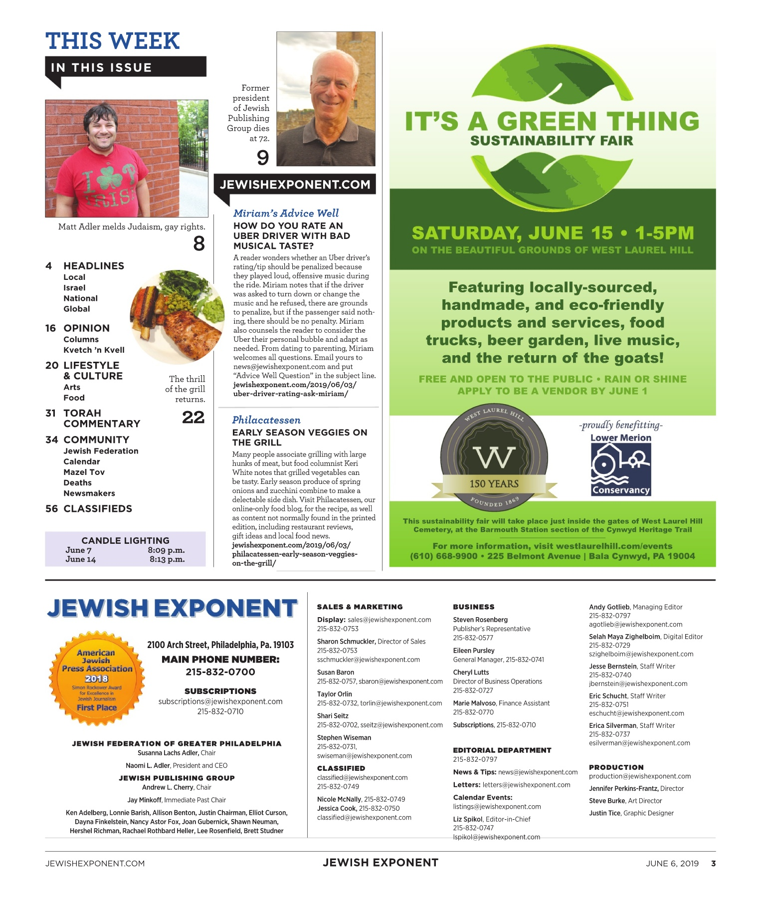 Jewish Exponent June 6, 2019 Pages 1 - 50 - Text Version | AnyFlip