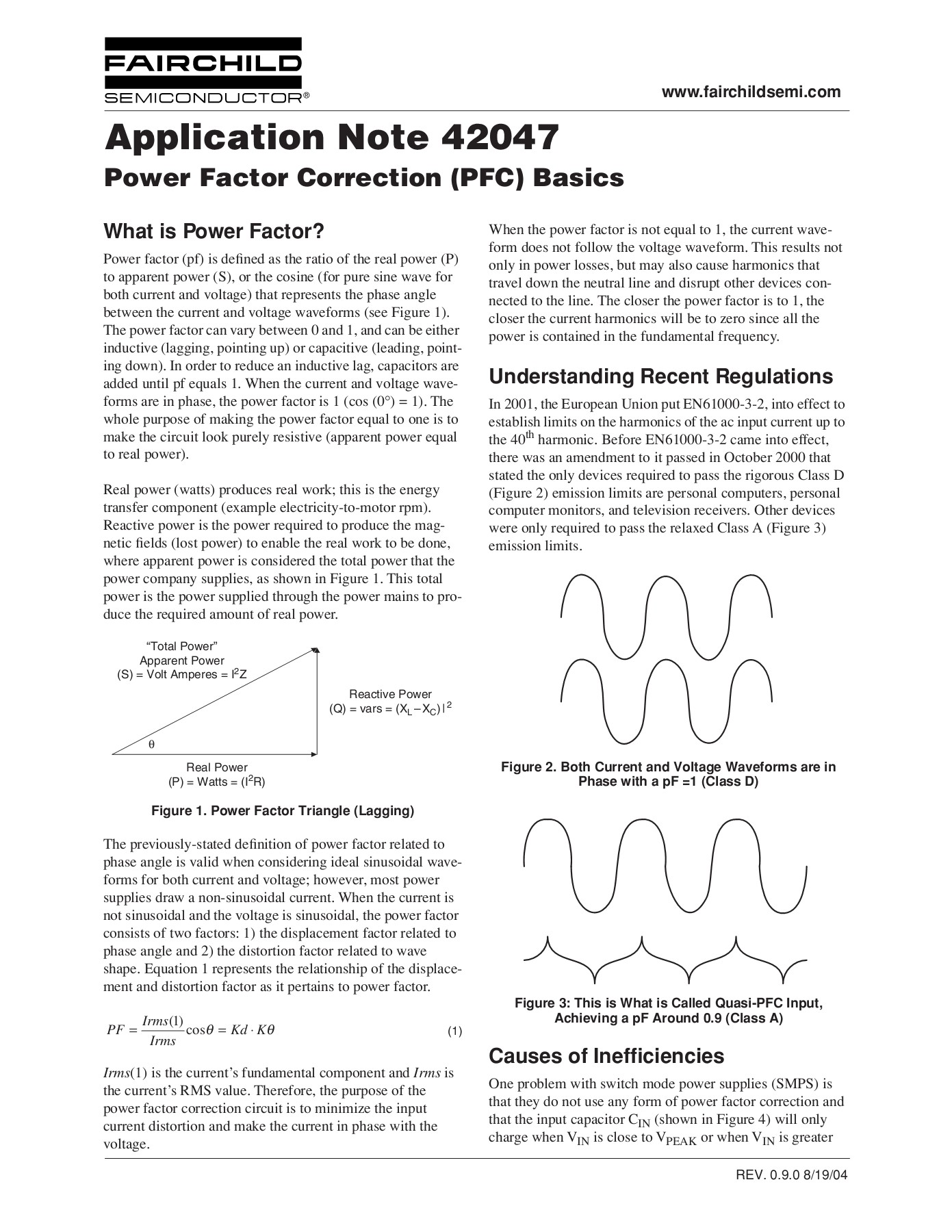 Power Factor Correction (PFC) Basics - Fairchild Pages 1 - 11 - Text