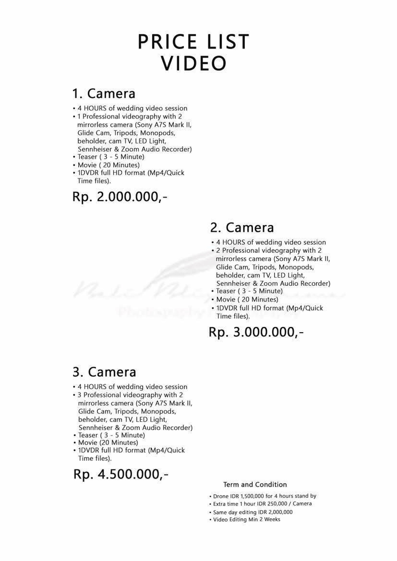 Price List 2019 Corporation