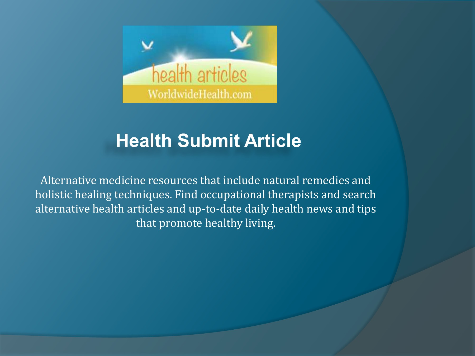 Health Submit Article