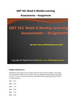 qnt561 week 3 assignment Issuu is a digital publishing platform that makes it simple to publish magazines, catalogs, newspapers, books, and more online easily share your publications and get them in front of issuu's millions of monthly readers title: qnt 561 week 3 case study superfun toys / qnt561com, author: hjiikkk, name: qnt 561 week 3 case study superfun toys / qnt561.