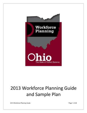 Workforce Planning Guide and Sample Plan 2013 Pages 1 - 32