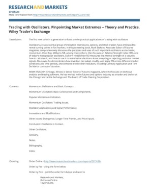 Trading with Oscillators: Pinpointing Market Extremes -- Theory and Practice (Wiley Traders Exchange)