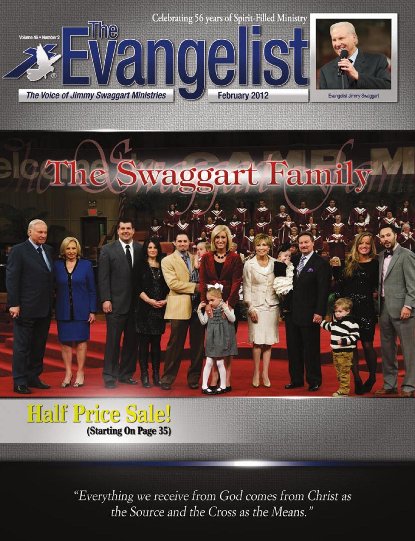 The Evangelist February, 2012 - Jimmy Swaggart Pages 1 - 44 - Text