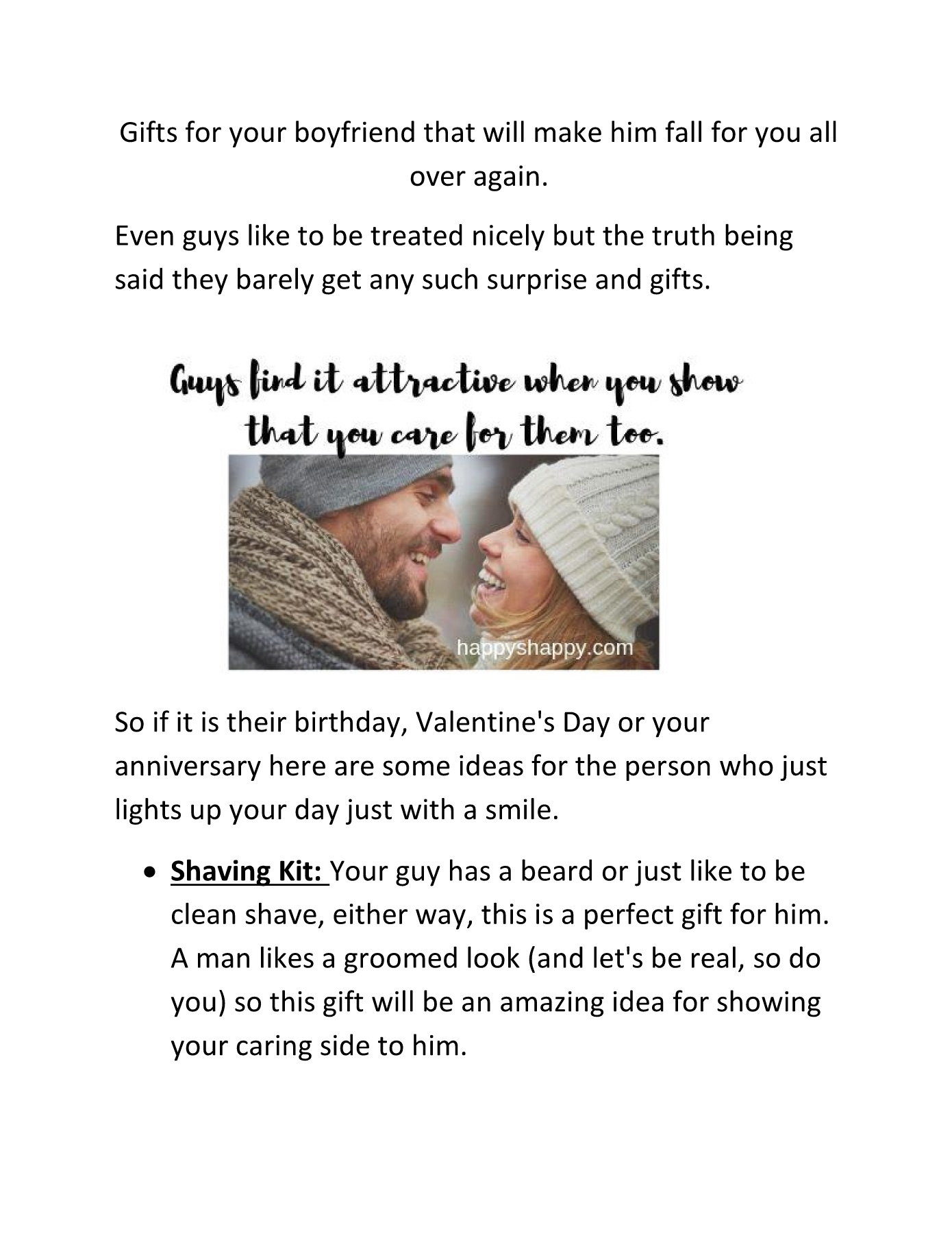 Gifts for your boyfriend that will make him fall for you all over again