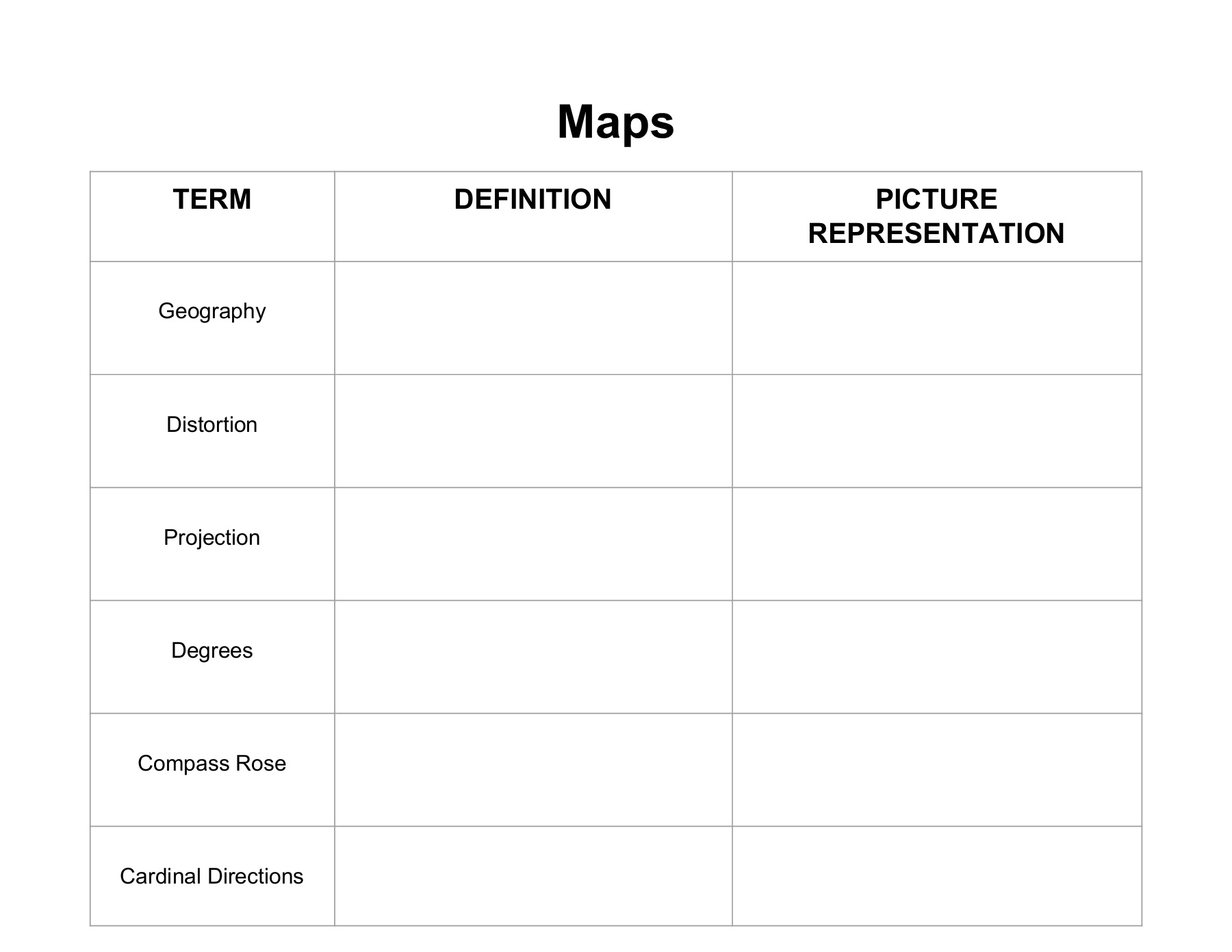 Map Skills_ Digital Notebook and Portfolio Pages 1 - 17 - Text ... on