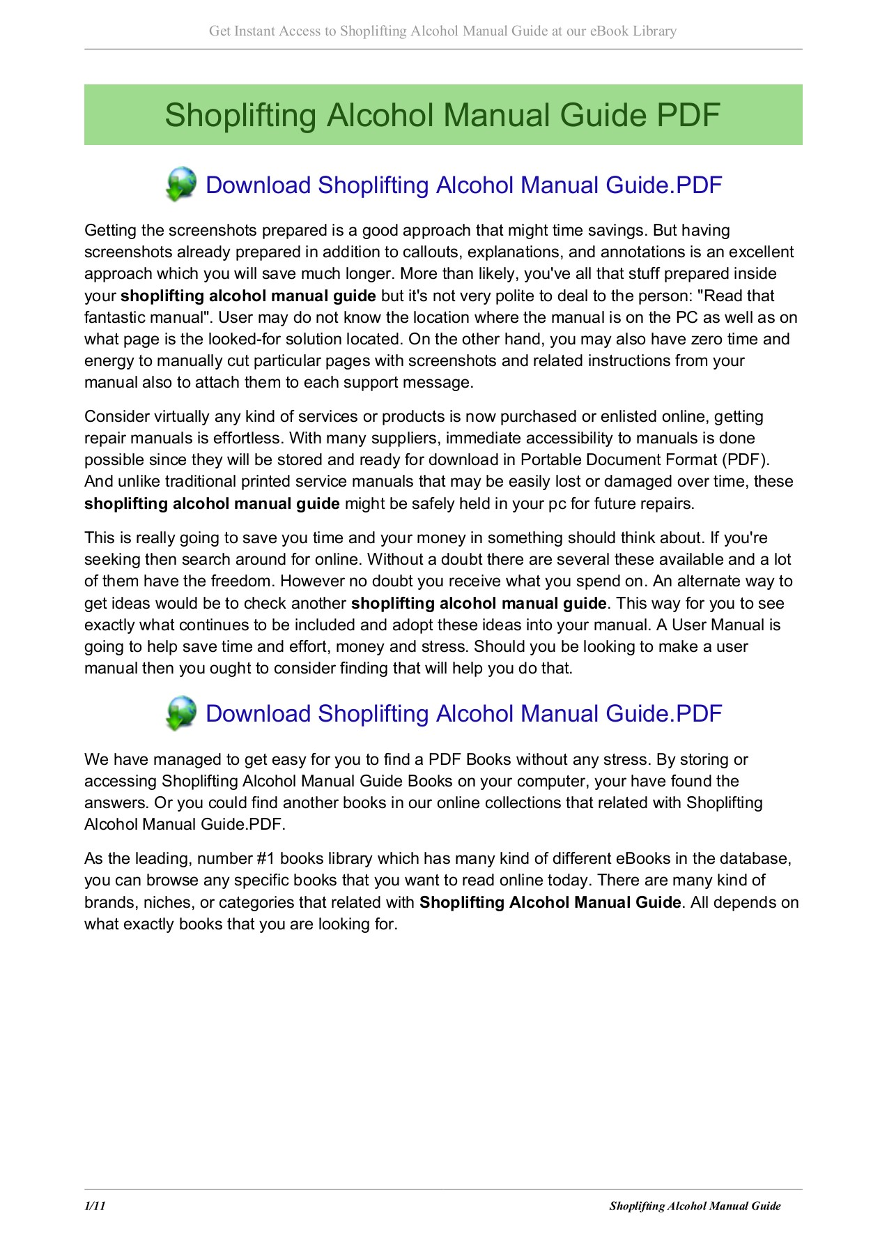 Shoplifting Alcohol Manual Guide Flashlive Net Pages 1 11 Text Version Anyflip