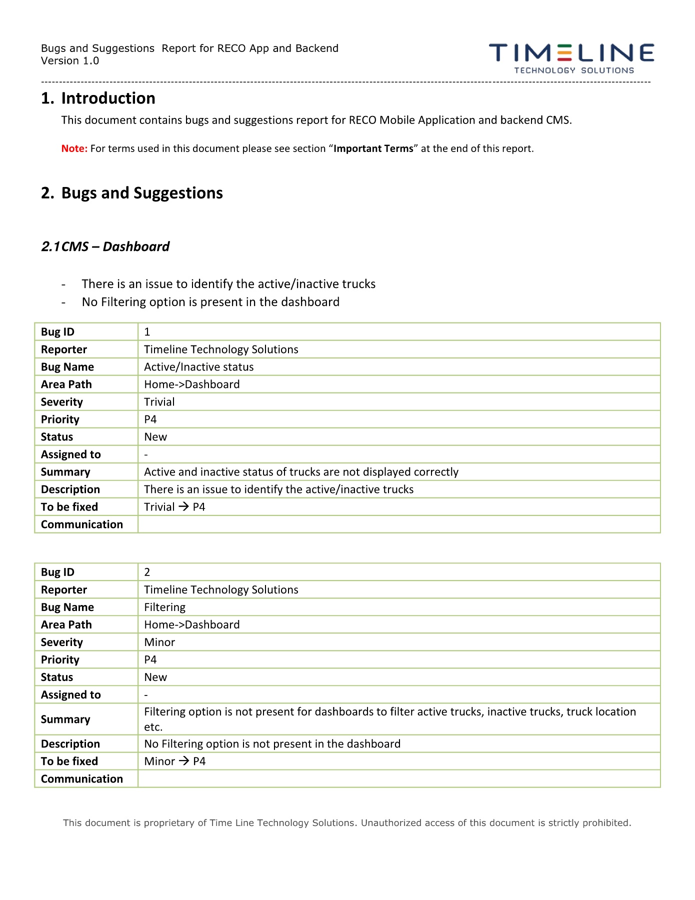 Bug And Suggestions Report   RECO V1 0 Pages 1   13   Text Version   AnyFlip
