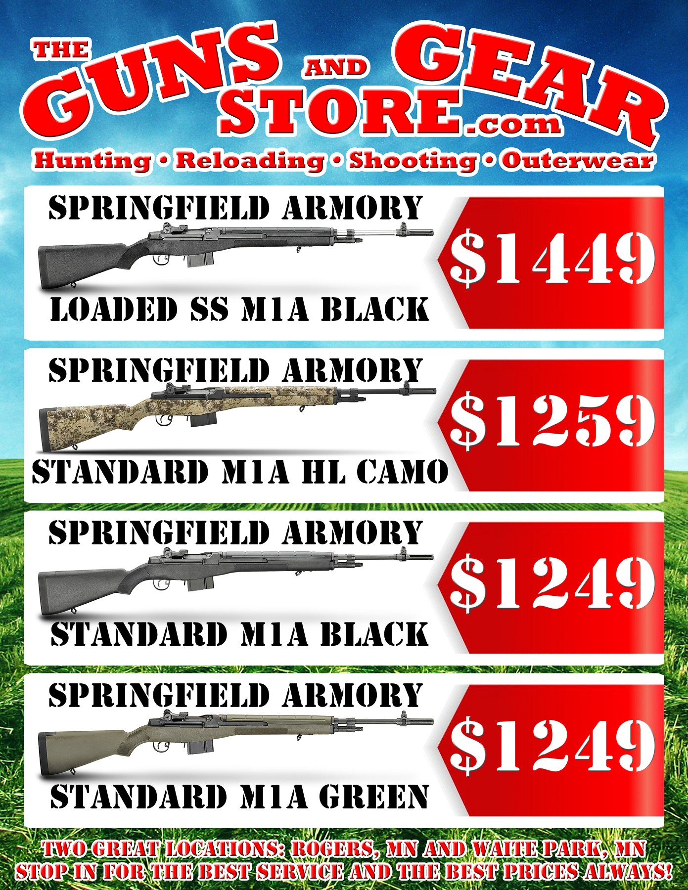 Springfield Armory M1A Rifle Summer Sale