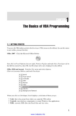 Page 18 - Writing Excel Macros with VBA, 2nd Edition