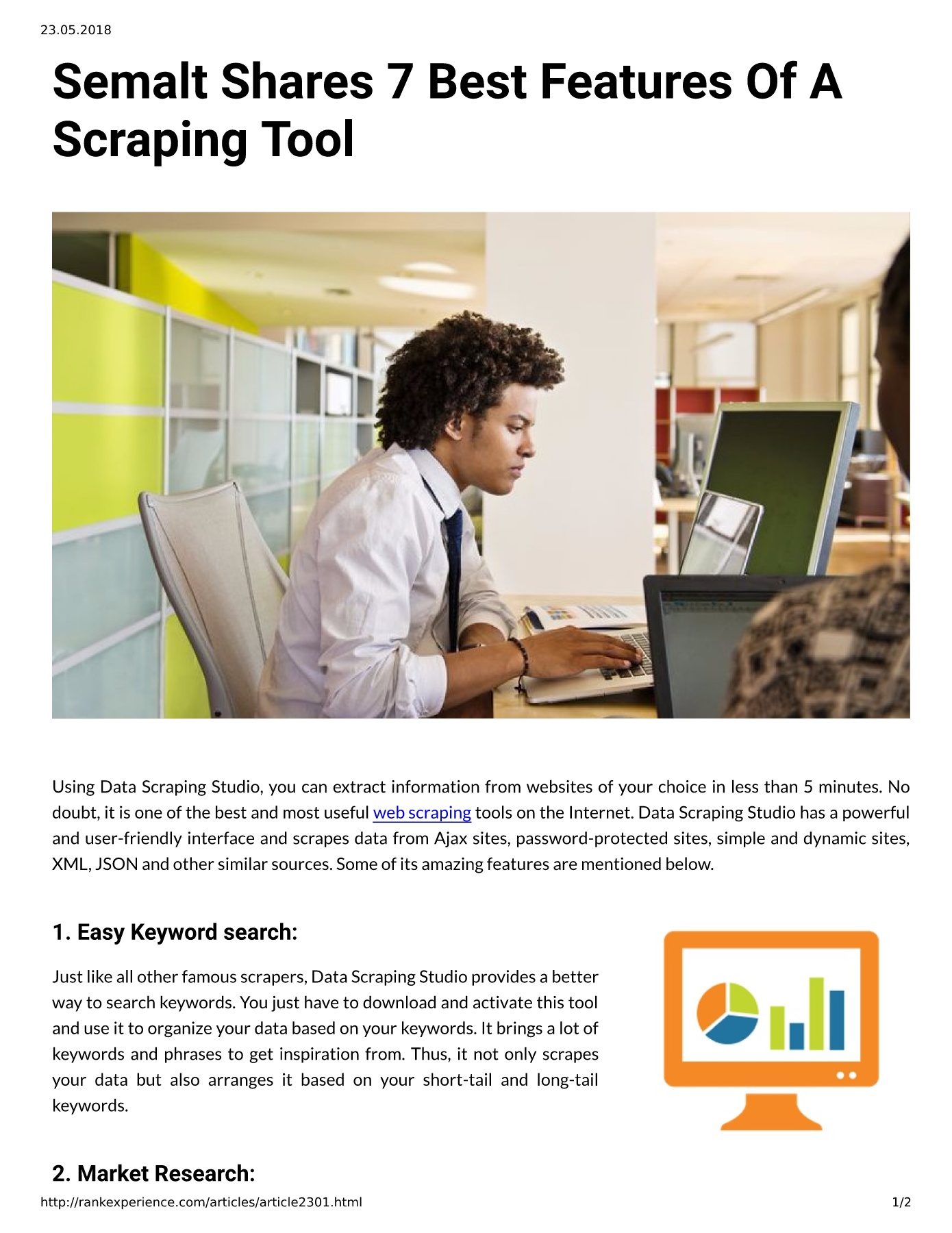 Semalt Shares 7 Best Features Of A Scraping Tool Pages 1 - 2