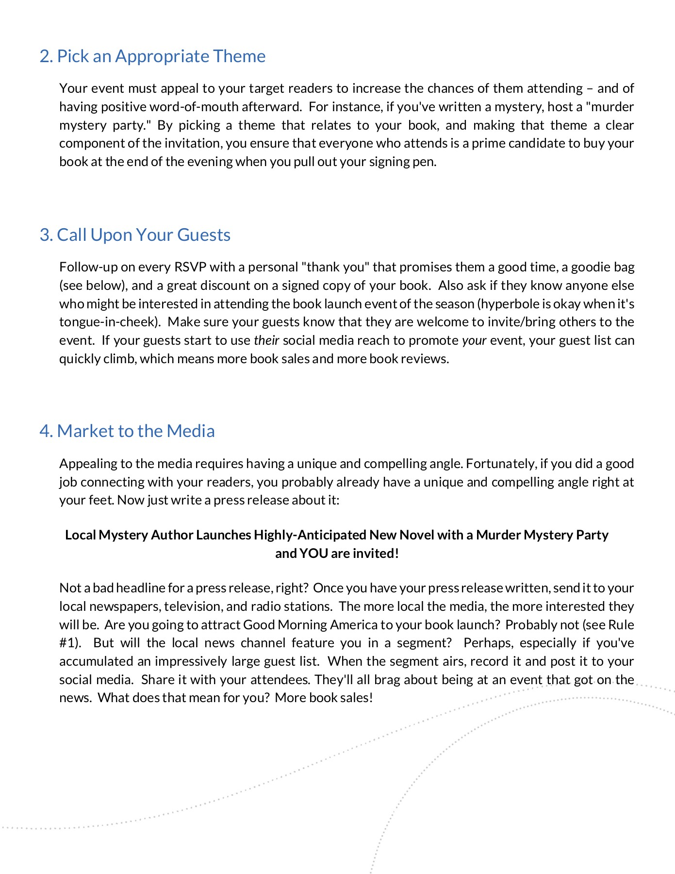 sample press release for an event