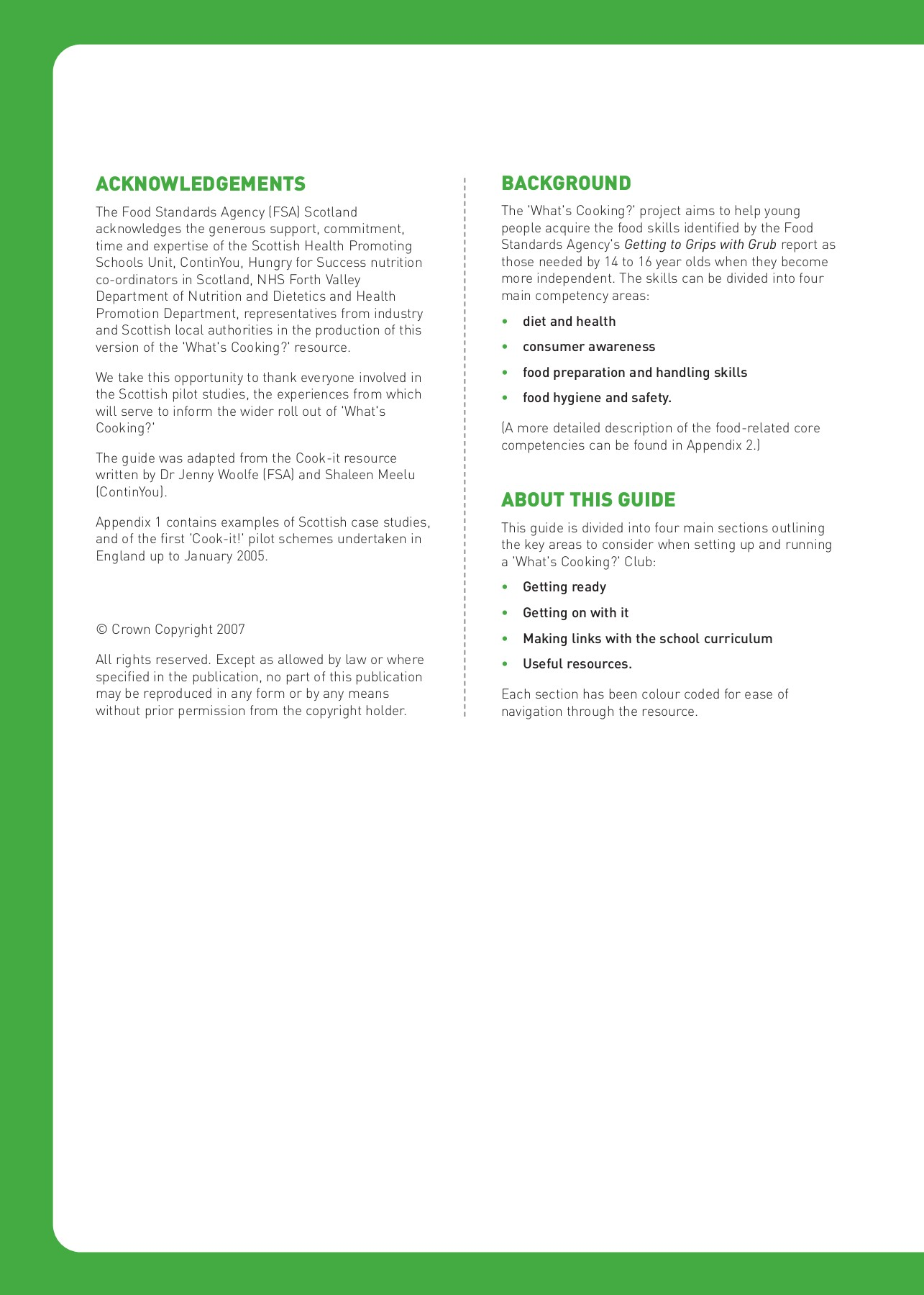 Whats Cooking Pdf Food Standards Agency Pages 1 50