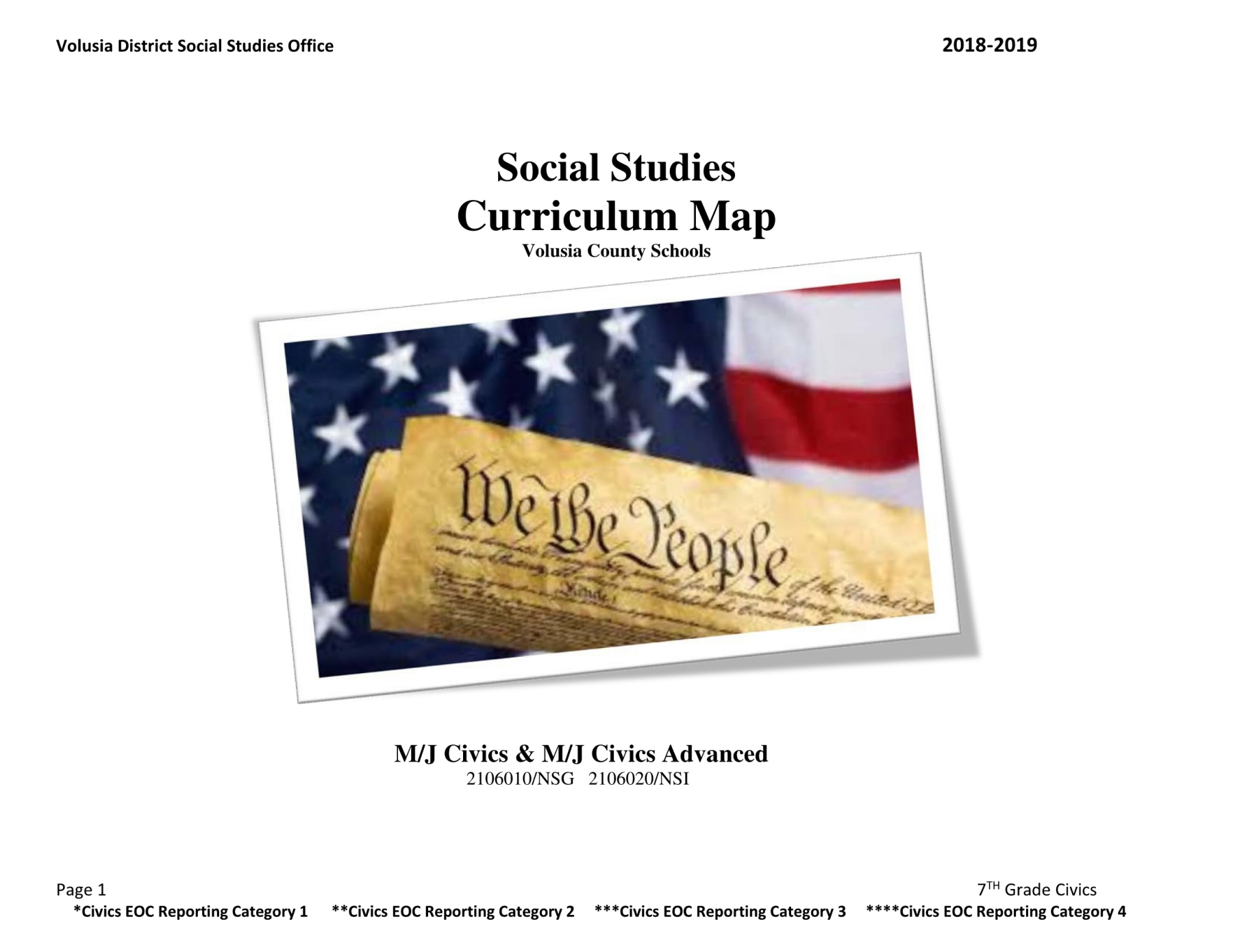 2018_2019 MJ Civics and Civics Advanced Curriculum Map Pages