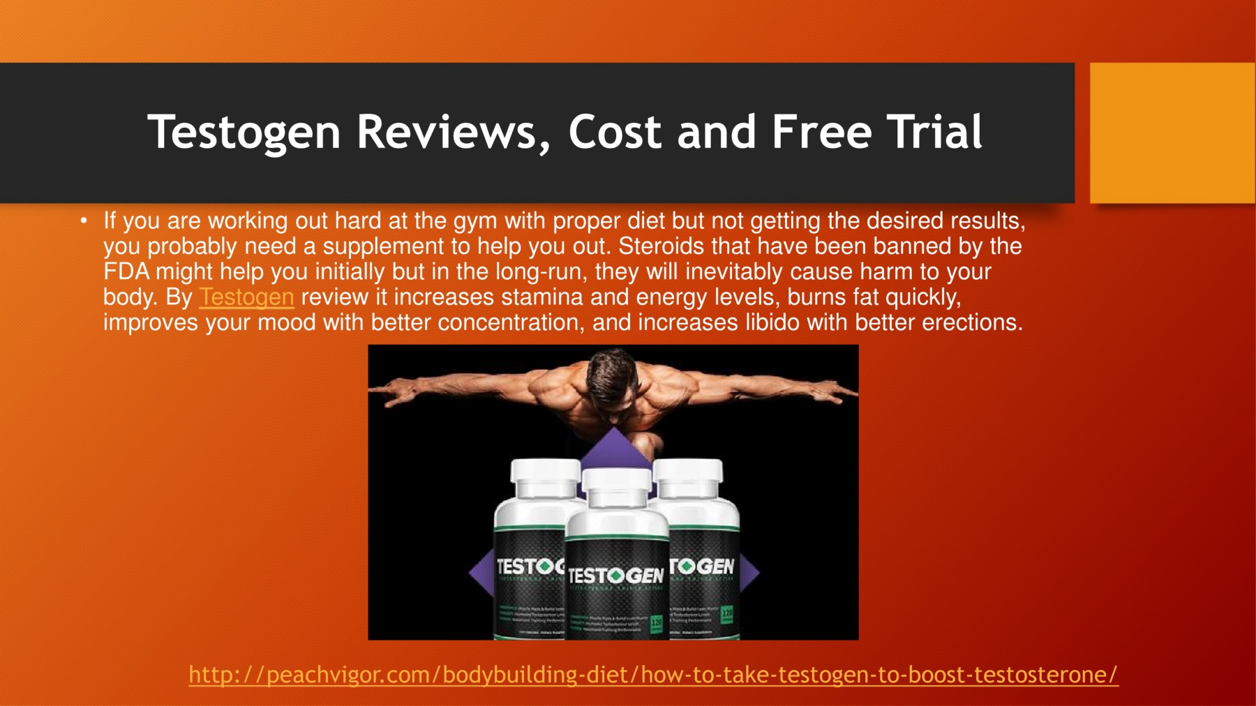 Testogen Reviews, Cost and Free Trial Pages 1 - 1 - Text Version