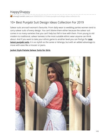 10 Best Punjabi Suit Design Ideas Collection For 2019 Pages 1 12 Text Version Anyflip