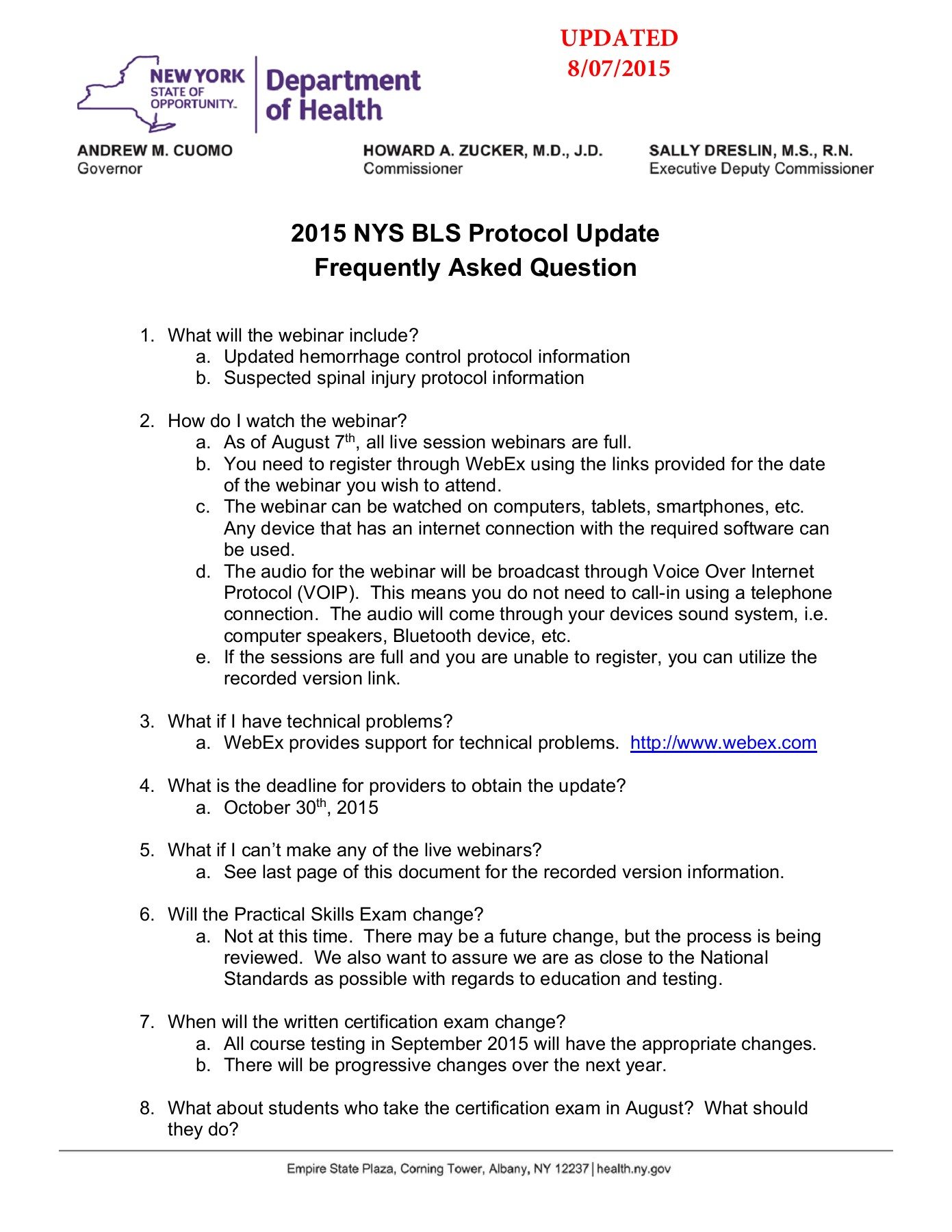Faq Letter 2015 Nys Bls Protocol Update Nycremsco