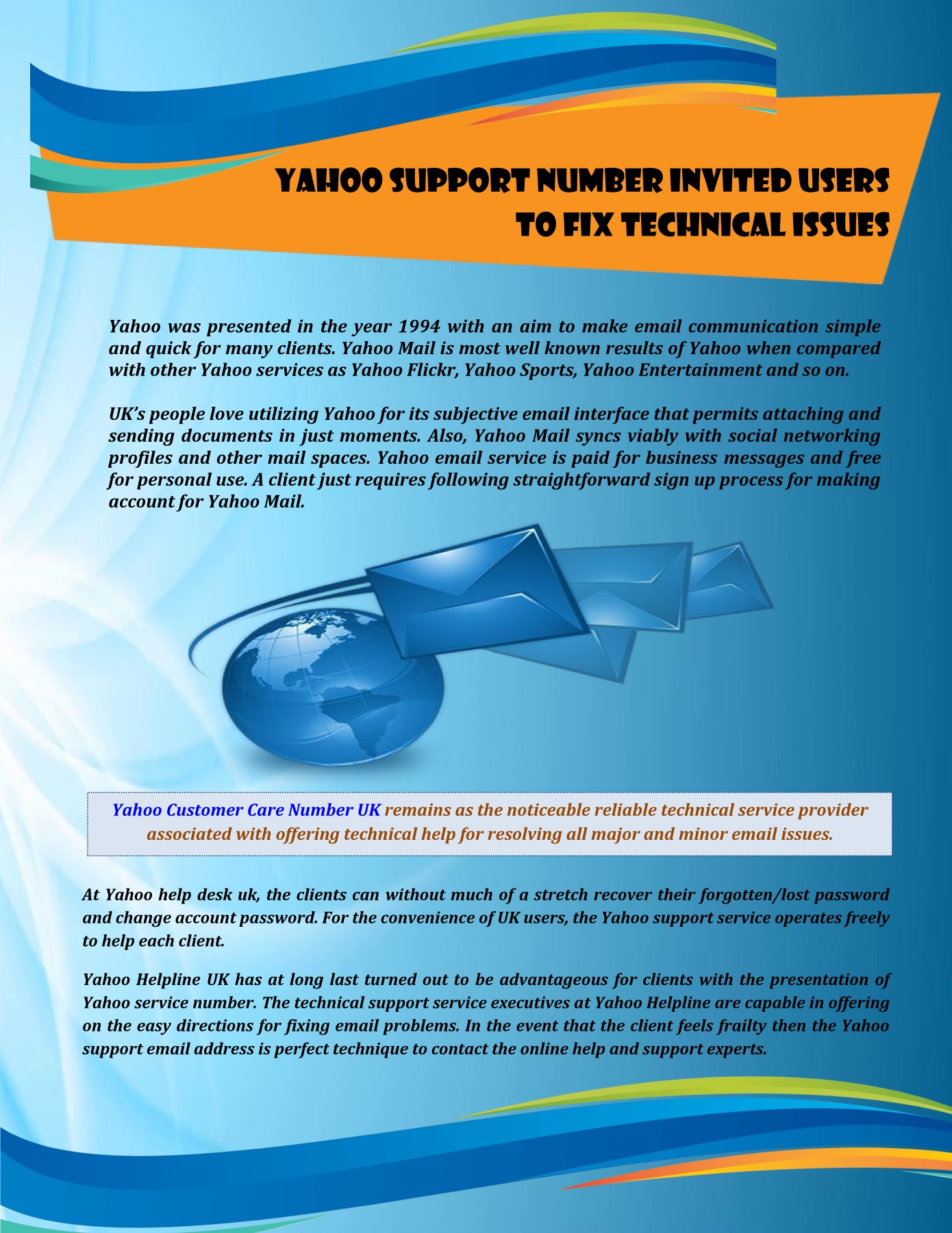 Yahoo Support Number to Fix Technical Issues Pages 1 - 2