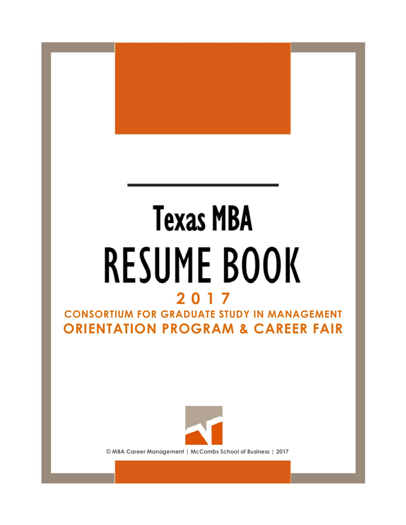 TexasMBA CGSM RESUME BOOK 2017 Pages 1 - 35 - Text Version | AnyFlip