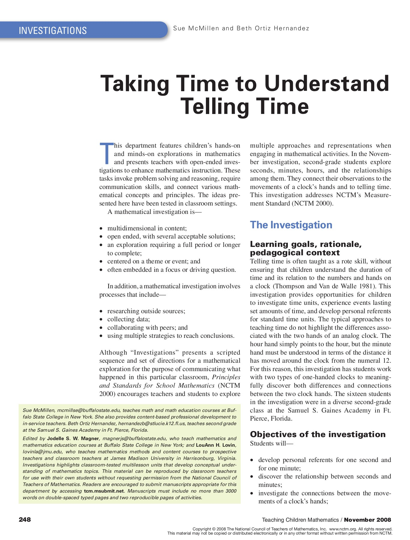 8 Taking Time To Understand Telling Time Nc Mathematics Pages 1