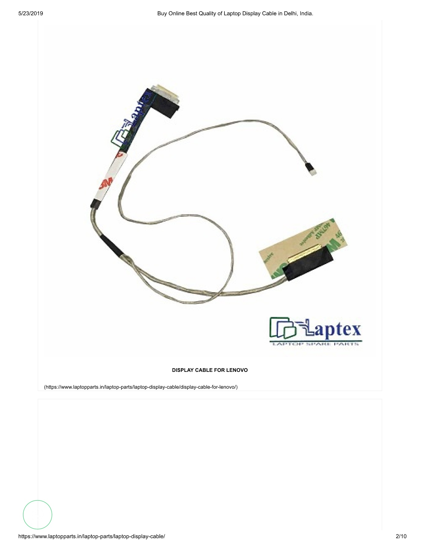 Buy Online Best Quality of Laptop Display Cable in Delhi, India_