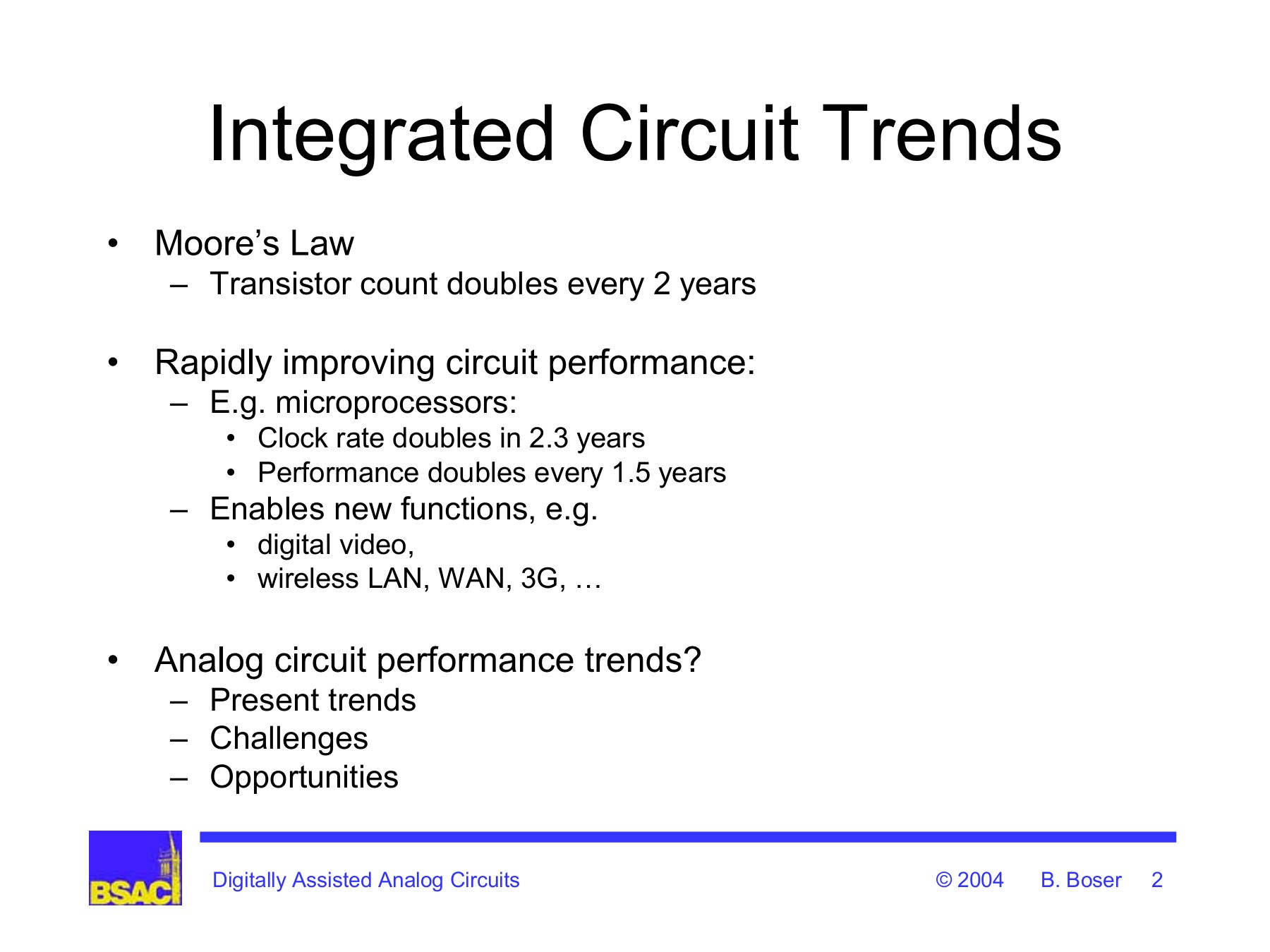 Digitally Assisted Analog Circuits Eecs At Uc Berkeley Functions Of Integrated Circuit