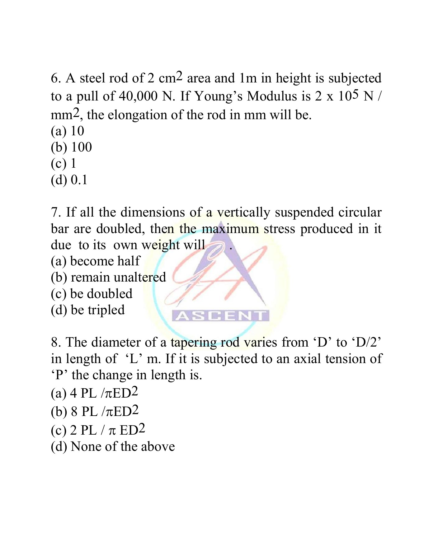Strength of Materials Sample Objective Pages 1 - 50 - Text