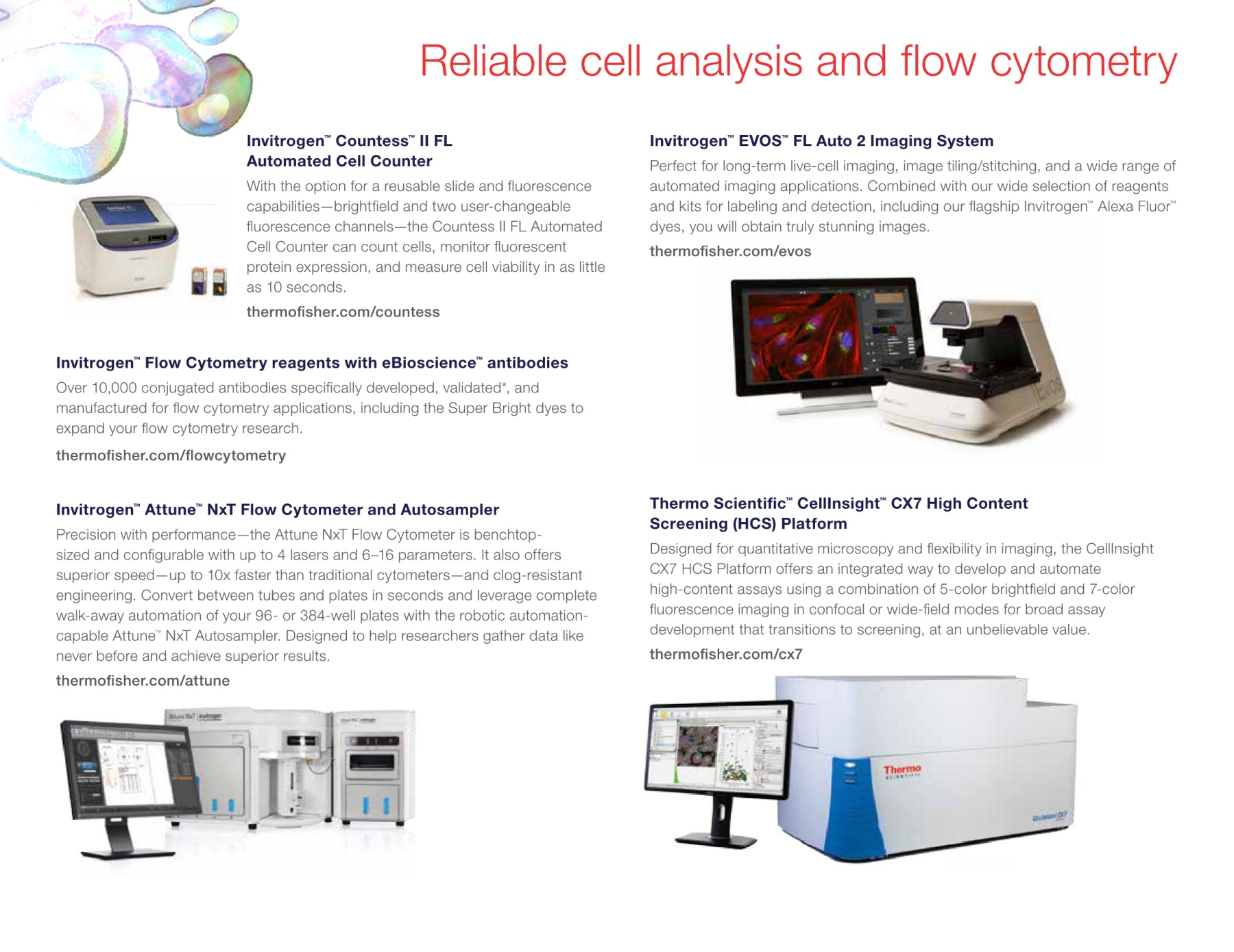 Protein and Cell Analysis Brochure