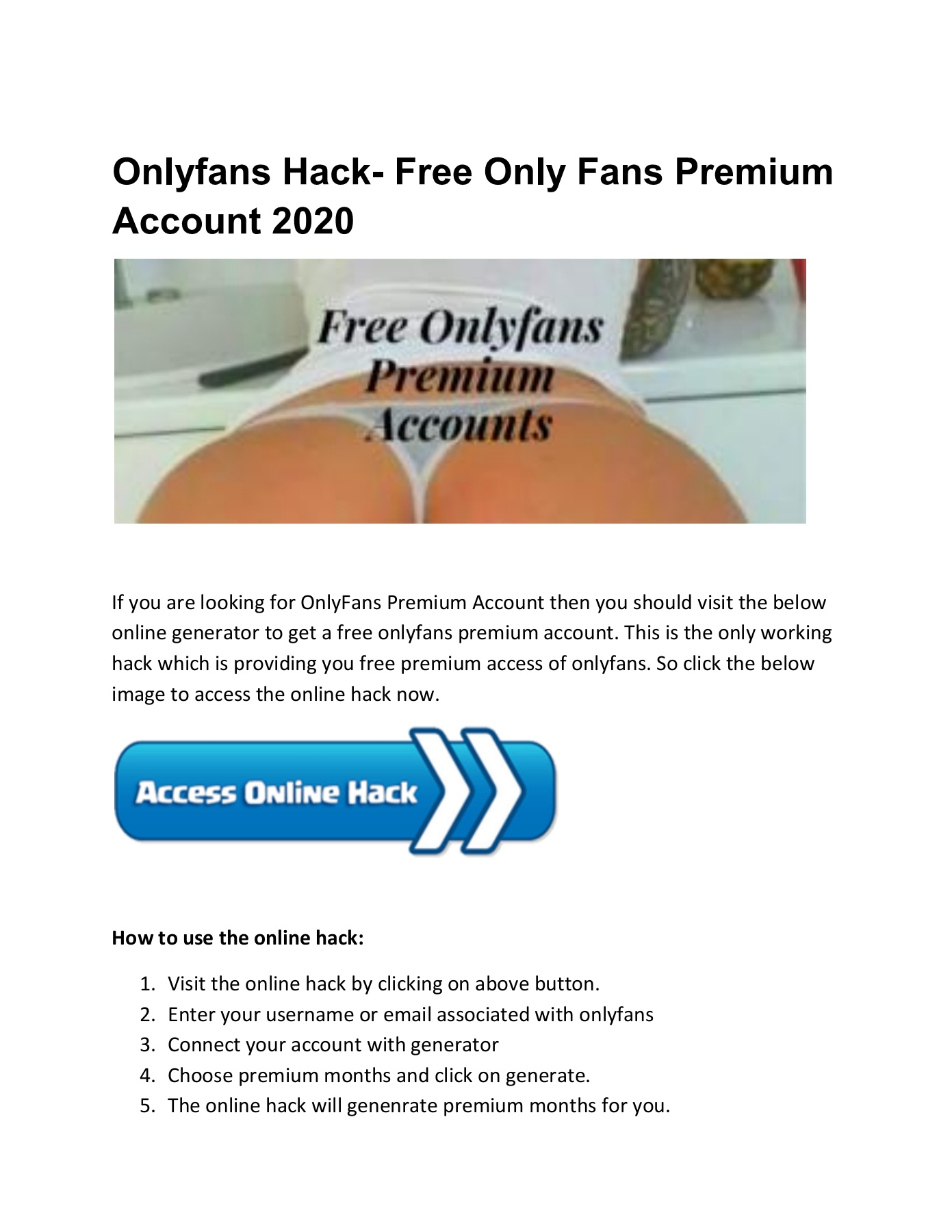Onlyfans Hack 2020 Free Premium Accounts Flip Ebook Pages 1 12 Anyflip Anyflip